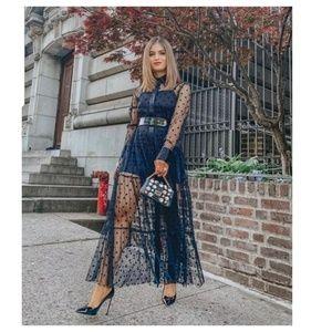 Zara tulle dots dress (4437)